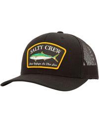 Salty Crew Mossback Retro Trucker Hat - Black