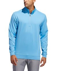 adidas Classic Club 1⁄4 Zip Golf Pullover - Blue