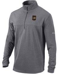 Columbia - Los Angeles Fc Soar Quarter-zip Grey Pullover Shirt - Lyst