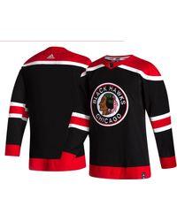 adidas Chicago Blackhawks Reverse Retro Adizero Authentic Blank Jersey