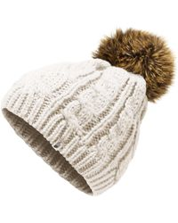 9dfc4a3a3b4064 The North Face - Youth Triple Cable Fur Pom Beanie - Lyst