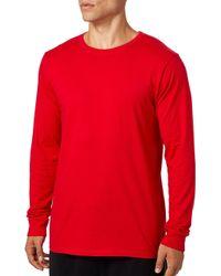 Reebok Jersey Long Sleeve Shirt - Red