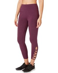 Reebok - Stretch Cotton Cross Ankle 7/8 Tights - Lyst