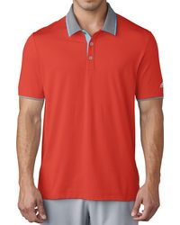 adidas Climacool Performance Golf Polo - Red