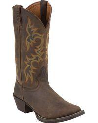 Justin Boots Justin Sorrel Apache Stampede Western Boots - Brown