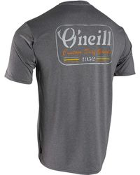 O'neill Sportswear Hybrid Graphic Short Sleeve Sun Shirt - Gray