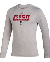 adidas - Nc State Wolfpack Grey Creator Performance Long Sleeve T-shirt - Lyst
