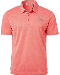 adidas Drive Novelty Heather Golf Polo - Pink