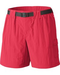 Columbia Sandy River Cargo Shorts - Red