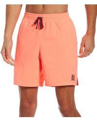 "Nike Essential Lap 7"" Volley Swim Trunks - Orange"
