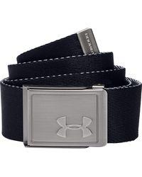 Under Armour Youth Webbing 2.0 Reversible Golf Belt - Black