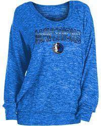 KTZ Dallas Mavericks Long Sleeve Sweater - Blue