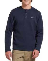Patagonia Better Sweater Henley Pullover - Blue