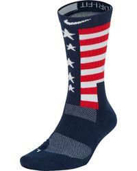 Nike Team Usa Elite Energy Basketball Crew Socks - Blue