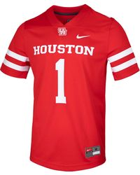 Nike Houston Cougars Red Game Football Jersey