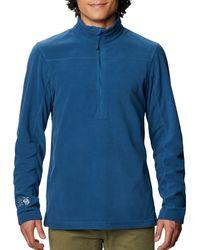 Mountain Hardwear Microchill 2.0 1⁄2 Zip Fleece Pullover - Blue