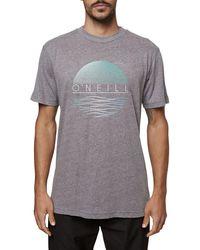 O'neill Sportswear Tropics T-shirt - Gray