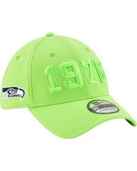 KTZ Seattle Seahawks Sideline Color Rush 39thirty Stretch Fit Hat - Green