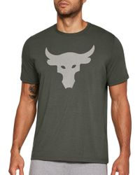 Under Armour - Project Rock Stealth Bull Graphic T-shirt - Lyst
