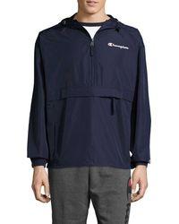 Champion Packable Half-zip Jacket - Blue
