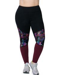 Rainbeau Curves - Curves Plus Size Gwen Pieced Leggings - Lyst