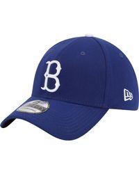KTZ Brooklyn Dodgers 39thirty Classic Royal Stretch Fit Hat - Blue
