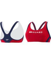 Speedo Guard Sport Bra Top - Red