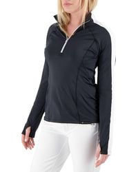 Obermeyer Adult Discover 1⁄4 Zip Long Sleeve Shirt - Black