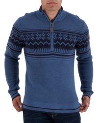 Obermeyer Jeremiah Ski Sweater - Blue
