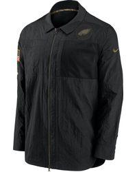 Nike Salute To Service Philadelphia Eagles Black Shirt Jacket
