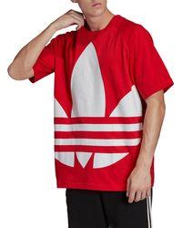 adidas Originals Big Trefoil Oversized T-shirt - Red
