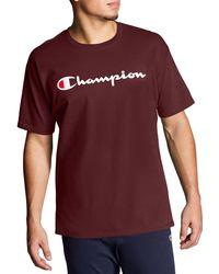 Champion - Script Jersey Graphic T-shirt - Lyst