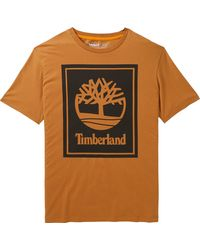Timberland - Stack Logo T-shirt - Lyst