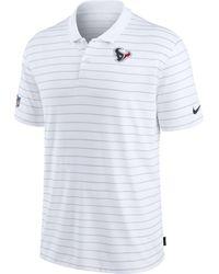 Nike - Houston Texans Sideline Early Season White Performance Polo - Lyst