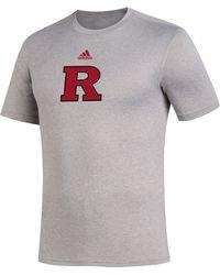 adidas Rutgers Scarlet Knights Gray Locker Room Logo Creator T-shirt