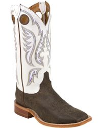 Justin Boots Justin Chocolate Bisonte Bent Rail Western Boots - Brown