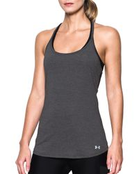 10611c7ed54c1 Lyst - Under Armour Fly By Racerback Tank Top in Black