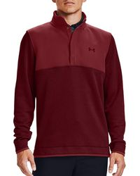 Under Armour Storm Half-snap Golf Pullover - Red