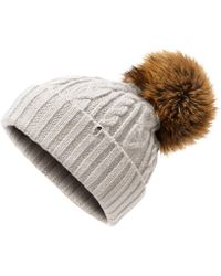 The North Face - Oh-mega Fur Pom Beanie - Lyst