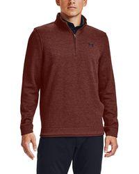 Under Armour Storm Sweaterfleece 1⁄4 Zip Golf Pullover - Red