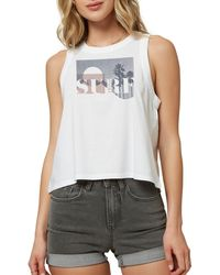 O'neill Sportswear Social Surf Tank Top - White