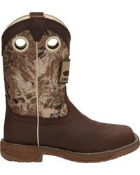Justin Boots Justin Stampede Rush Steel Toe Western Work Boots - Brown