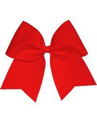 Soffe Girls' Jumbo Bow Scrunchie - Red
