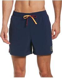 "Nike Jdi Logo Tape Racer 5"" Volley Swim Trunks - Blue"
