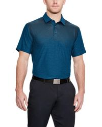 Under Armour - Playoff Line Print Golf Polo - Lyst