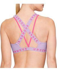 Under Armour Strappy Wordmark Sport Bralette - Multicolor