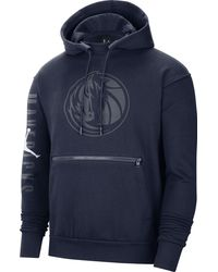 Nike - Adult Dallas Mavericks Navy Fleece Pullover Hoodie - Lyst