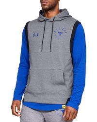 e7a8d2b2122847 Under Armour - Project Rock Double Knit Sleeveless Hoodie - Lyst