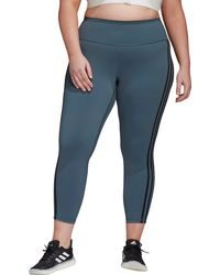 adidas - Plus Size Believe This 2.0 3-stripes 7/8 Tight - Lyst