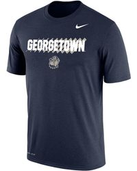 Nike Georgetown Hoyas Blue Dri-fit Cotton T-shirt